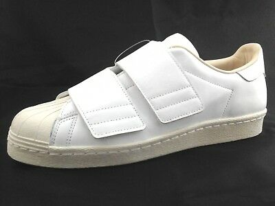 ADIDAS Superstar White Leather Sneakers 80s Straps CQ2447 Womens US 10.5/43 1/3 | eBay