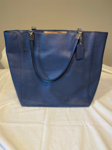 Coach Pebbled Leather Shoulder Bag, Royal Blue