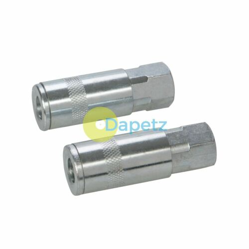 Compressor Euro 6mm 1/4 BSP Air Line Quick Coupler Fitting 2pk Fittings Female