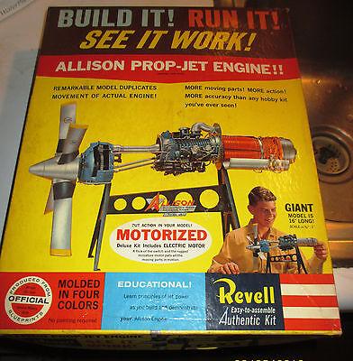VINTAGE [1961] REVELL MOTORIZED ALLISON PROP-JET ENGINE SEALED PARTS/MINOR ASSEM