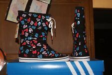 Womens ADidas ADI Honey Boot Boots Black White Sz 7 or 9