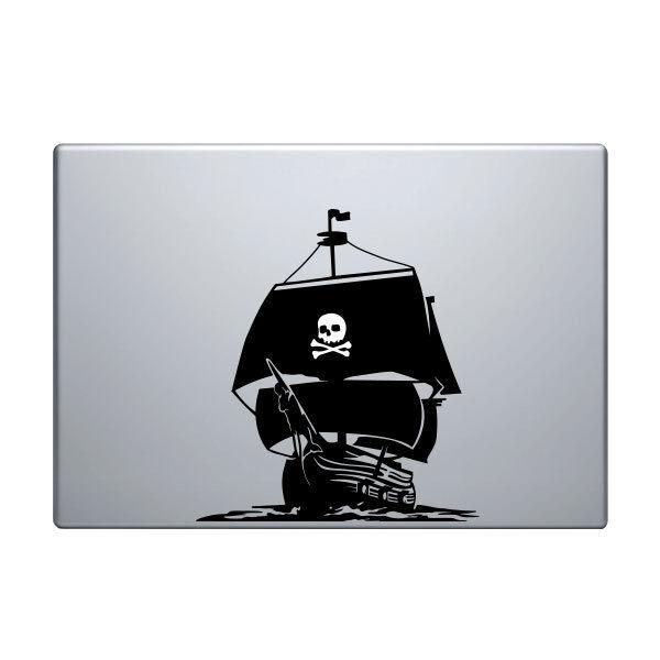 Pirate Ship Decal for Macbook Pro Sticker Vinyl laptop funny 11 13 15 skull mac
