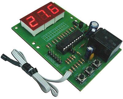 12V Digital Temperature Control  0˚ to 99˚C PC FAN KIT Digital Sensor DS18B20
