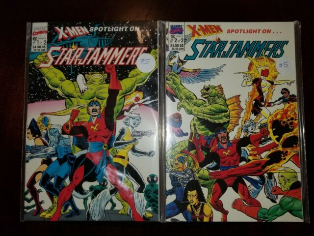 X-Men Spotlight On Starjammers, lot, two: 1-2. 1990, Marvel. BEAUTIFUL CONDITION