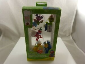 Sesame-street-mini-5-piece-Christmas-ornaments-Kurt-S-Adler-xmas-cookie-monster