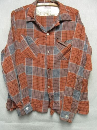 W3389 Ensenada Burned Orange/Gray Plaid Button Up