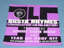 Poster called  Busta Rhymes EXTINCTION LEVEL EVENT & THE FINAL WORLD FRONT