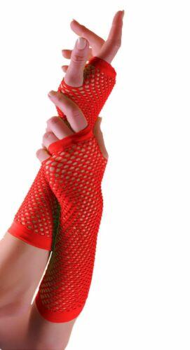 New Neon Long Fishnet Gloves Fingerless Gloves Fancy Dress Party Gloves Fish Net