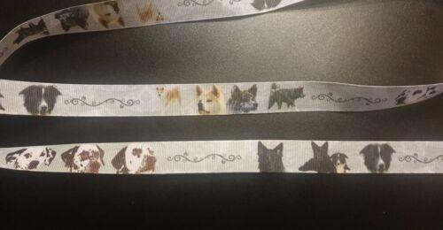 4041 Verschiedene Hunderassen 22mm Breite Ripsband Webband Borte