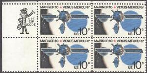 Scott # 1557 - US ZIP Block of 4 - Mariner 10 Venus/Mercury - MNH - (1975)