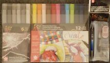 Koi Watercolor Lot 18 Watercolor Makers + Koi Water Brush. Sakura