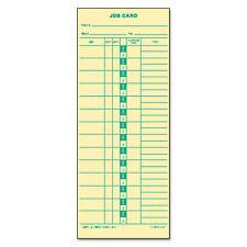 Tops Job Card For Cincinnatilathemsimplex 1 Side 3 12 X 9 500box