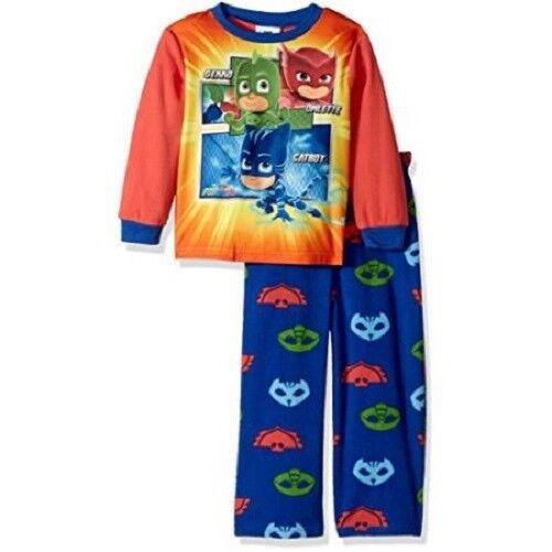 2 T PJ Masques 2-Pièce en polaire chaude bébé Confortable Pyjama-Bleu