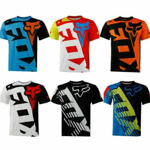 Men's FOX Riding Jersey Short Sleeve T-shirts Motocross//MX//ATV//BMX//MTB Dirt Bike