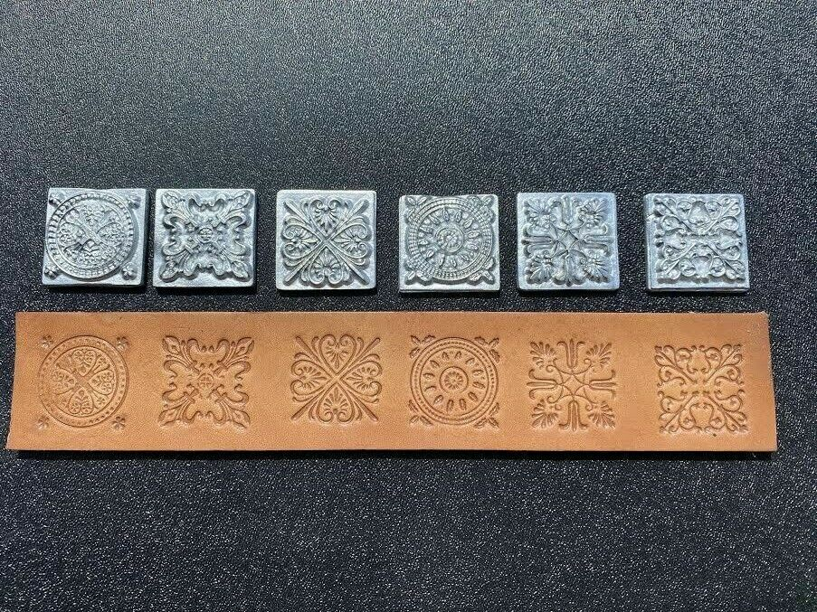 DECORATIVE LEATHER STAMPS Peace and Tranquility Leather Pattern Embossing Stamps