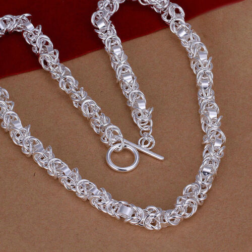 Livraison gratuite wholesale new fashion Sterling Argent 1 beau collier TN051