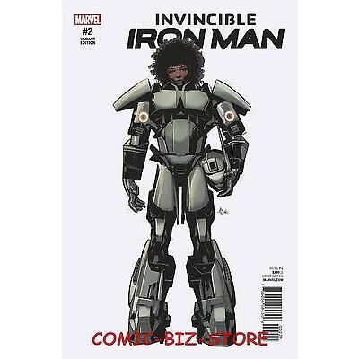 INVINCIBLE IRON MAN #2 (2016) 1ST PRINT SCARCE 1:10 DEODATO TEEASER VARIANT CVR
