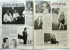 *JULIO IGLESIAS and SYDNE ROME: 3 pages 1980 Spanish CLIPPING_ RECORTE 3 PAGINAS
