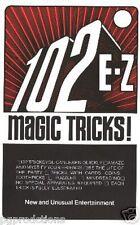 102 E-Z Magic Tricks Book Booklet Clown How To Do Beginner Easy Magician Joke