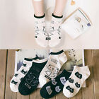1 Pair Fashion Women Sport Casual Cute Cat Ankle High Low Cut Cotton Socks