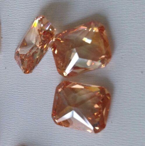 Champagne-Octagon Cubic Zirconia Loose Stones USA 10x12,9x11,5x7,3x5mm CZ AAA