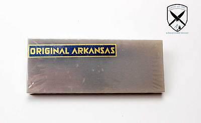 Original Arkansas Abziehstein Naturschleifstein Messerschärfer 125x50mm.