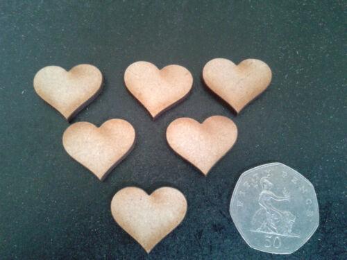 En bois coeurs 2 x 2cm pack de 100 découpe laser craft shapes 3mm mdf mariages cartes