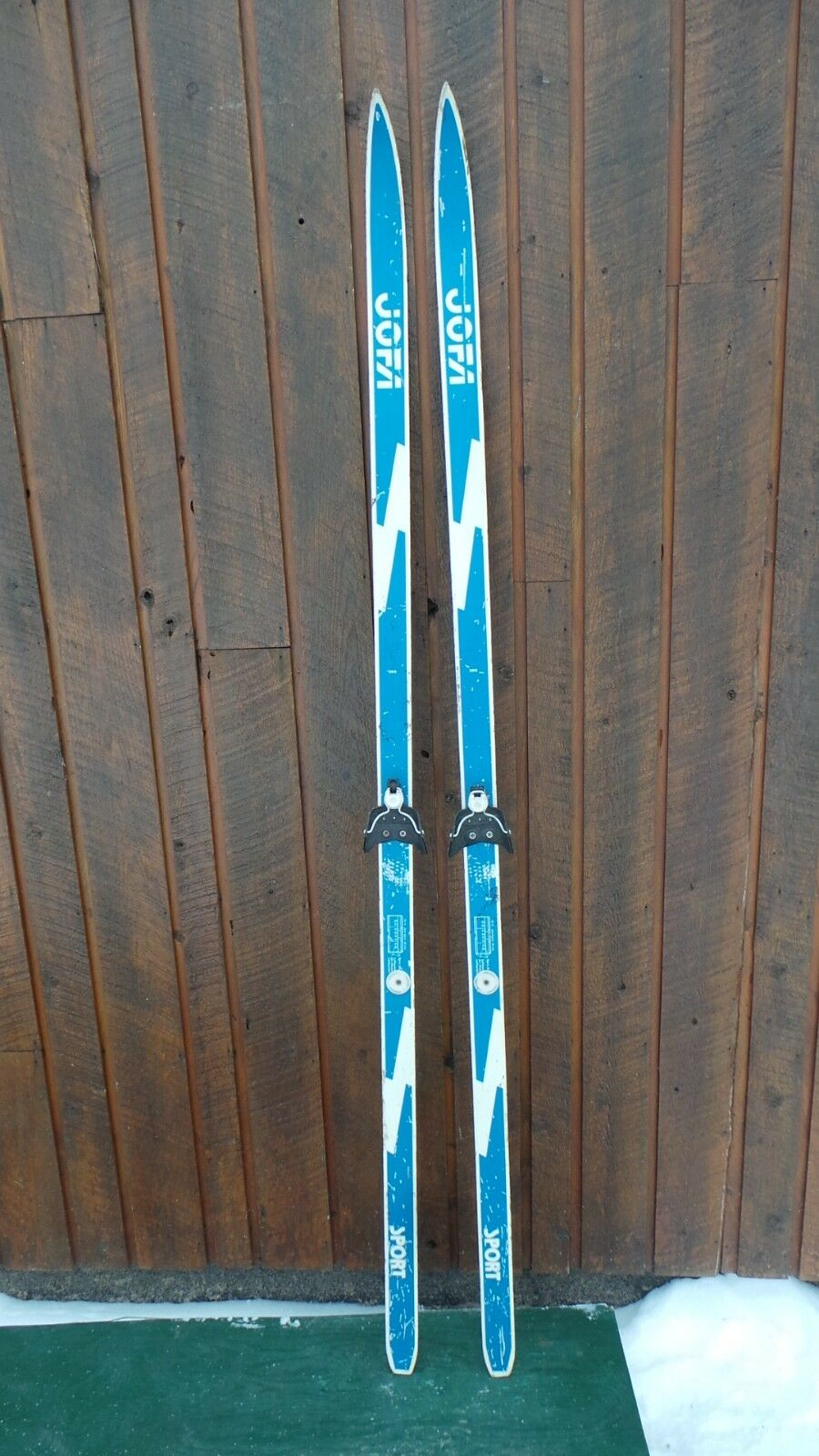 VINTAGE Wooden 79  Skis Has bluee and White Finish and Great OLD Character