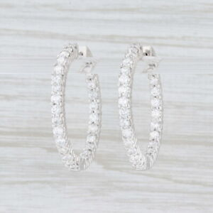 3-50ctw-Diamond-Inside-Out-Hoop-Earrings-14k-White-Gold-Snap-Top-Round-Hoops