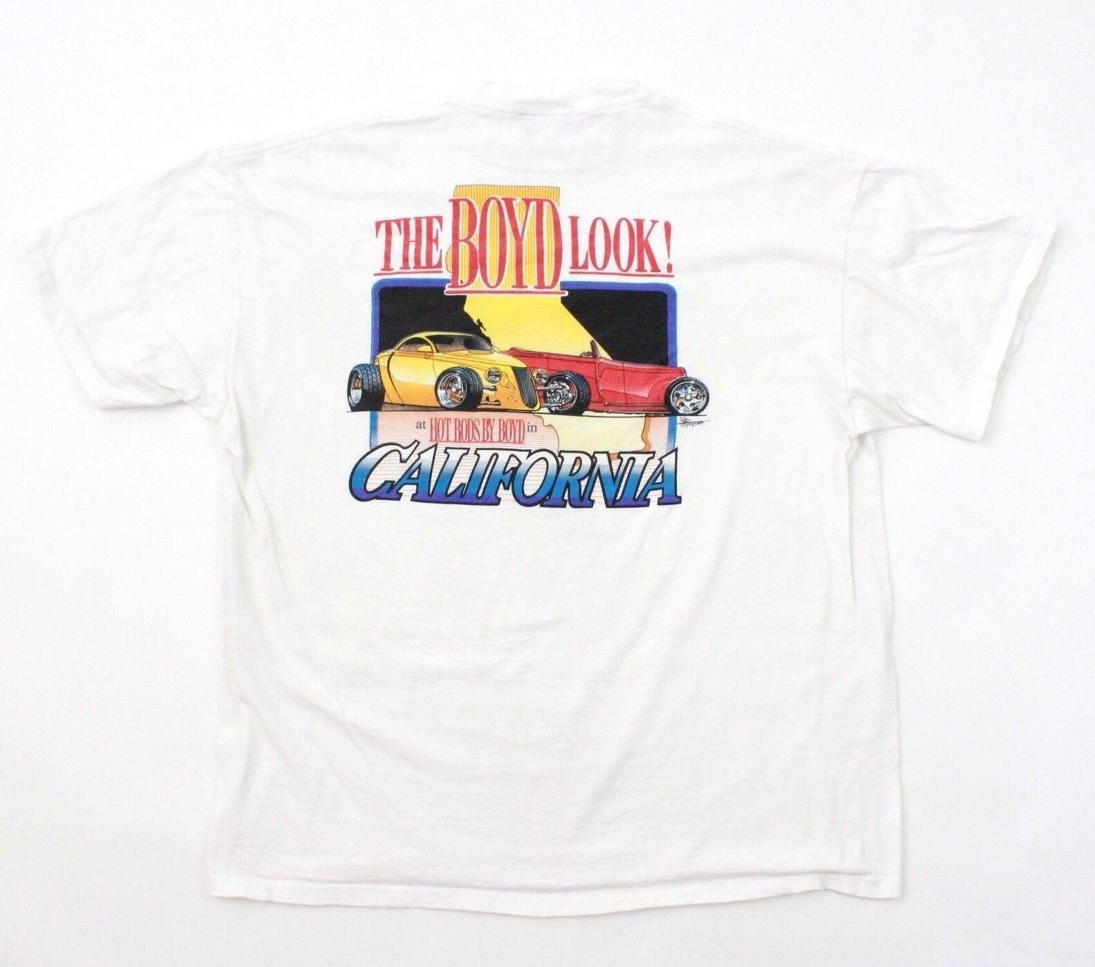 Vtg Boyd Coddington T-Shirt Herren XXL 2XL Hot Rods von Rendering Einzel Stich