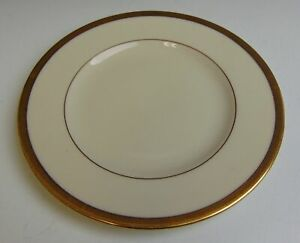 Lenox-China-TUXEDO-GOLD-STAMP-Bread-amp-Butter-Plate-VERY-GOOD