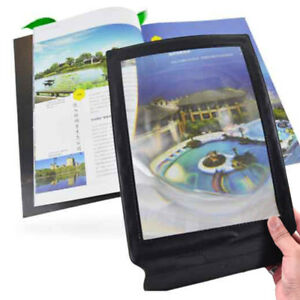 Full-Page-Magnifier-Sheet-4X-Large-Big-Magnifying-Glass-Reading-Book-Aid-Lens-UK