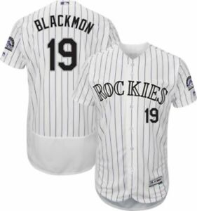 buy online 67fc2 761ad Details about Charlie Blackmon #19 Colorado Rockies Men's White Home Game  Jersey