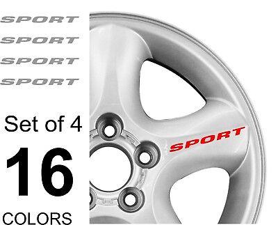 Car SPORT Truck Vinyl Sticker Decal Wheel Racing Rim Emblem Logo Set of 4