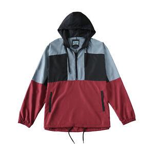 Men-039-s-Hooded-Pullover-Lightweight-Windbreaker-Long-Sleeve-Zip-Jacket-Gift-S-XL