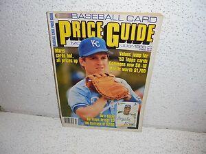 Details About Vintage Baseball Card Price Guide Magazine July 1988 Bo Jackson