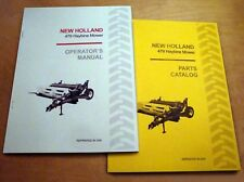 New Holland 479 Haybine Mower Conditioner Operators And Parts Manual Catalog Nh