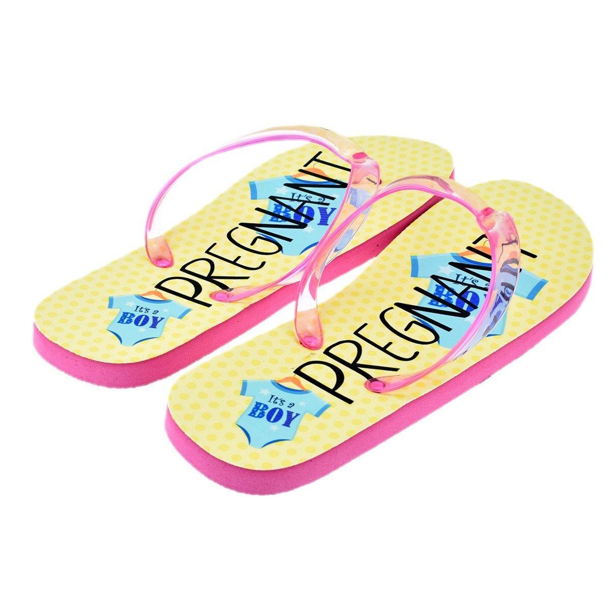 Pregnant Boy XFFS113-BOY Design Ladies Flip Flops XFFS113-BOY Boy a1b308