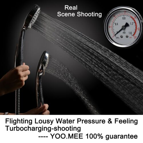 High Pressure Handheld Shower Head with Powerful Spray Multi-functions Chrome