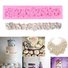 Pearls Beads Silicone Mould Fondant Cake Tools Cupcake Mold Border Sugar Paste