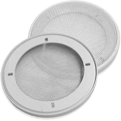 PG Audio 1 Paar DIN-130 Lautsprecher-Universalabdeckung Abdeckung Grill wei/ß