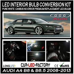 Audi A4 B8 B85 S Line Led Interior Xenon White Complete Canbus