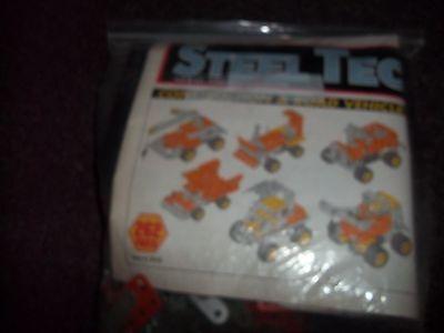 Vintage Remco Steel Tec Construction Road Vehicles metal building toy item 7010