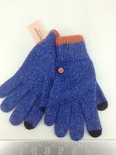 Women's JUICY COULTURE Blue COTTON-CASHMERE Gloves - 1 Size - $58 MSRP - 20%
