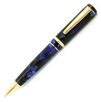 Rosetta Magellan Ballpoint Pen, Dark Blue Marble, Gold Trim