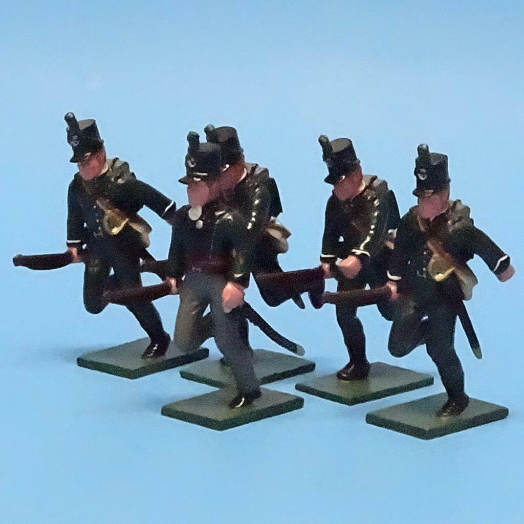 MI -442 - 95th Rifles Advanceing - Napoleon (5 fig) - Soldater i världen