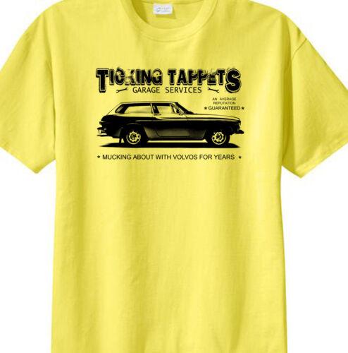/'Ticking Tappets Garage/'   Volvo P1800ES  t-shirt
