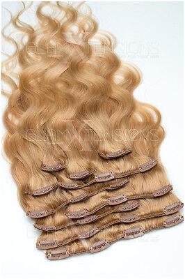 Clip-In Extensions Set -10 teilig 100gramm glatt Echthaar Ombre Haarverlängerung