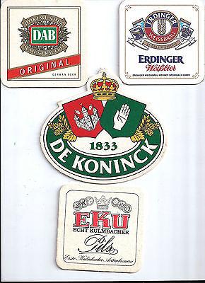 4x Sous Bock Beer Coaster Bier Deckel DELIRIUM TREMENS #4  ARGENTUM