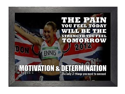 Motivational 110 Jessica Ennis British Track Field Athlete Quote Poster Photo